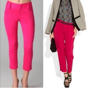 Alice + Olivia Silk Pink Trousers Pants Arthur